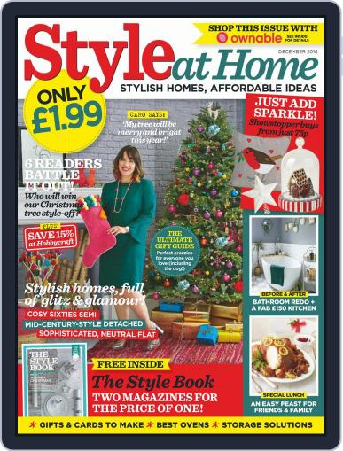 Style At Home United Kingdom (Digital) December 1st, 2018 Issue Cover