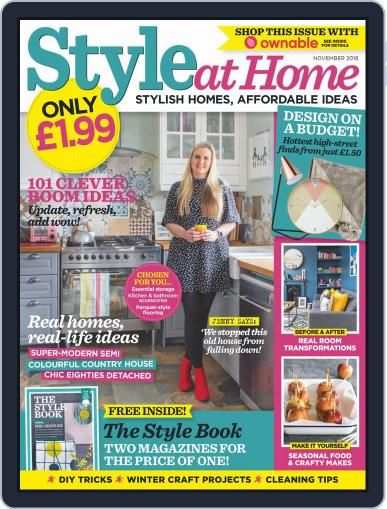 Style At Home United Kingdom (Digital) November 1st, 2018 Issue Cover