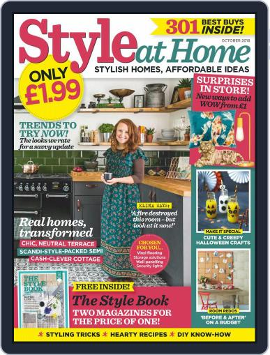 Style At Home United Kingdom (Digital) October 1st, 2018 Issue Cover