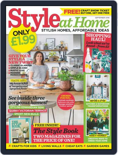 Style At Home United Kingdom (Digital) September 1st, 2018 Issue Cover