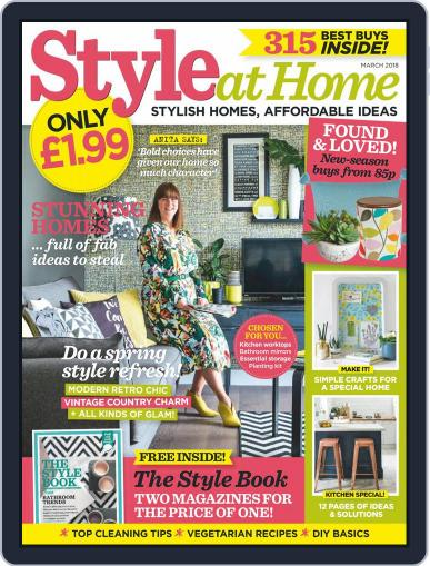 Style At Home United Kingdom (Digital) March 1st, 2018 Issue Cover