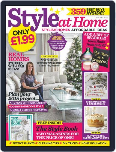 Style At Home United Kingdom (Digital) January 1st, 2018 Issue Cover
