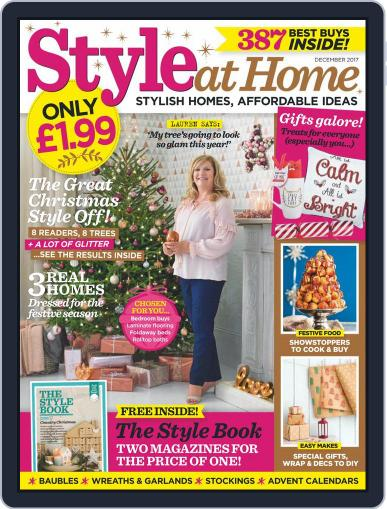 Style At Home United Kingdom (Digital) December 1st, 2017 Issue Cover