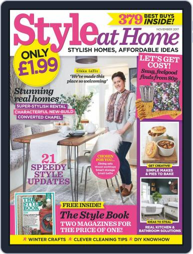 Style At Home United Kingdom (Digital) November 1st, 2017 Issue Cover