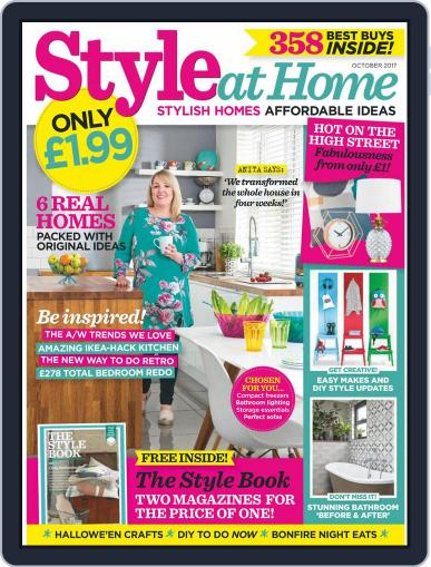 Style At Home United Kingdom (Digital) October 1st, 2017 Issue Cover