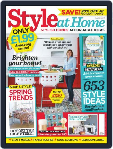 Style At Home United Kingdom (Digital) March 1st, 2017 Issue Cover