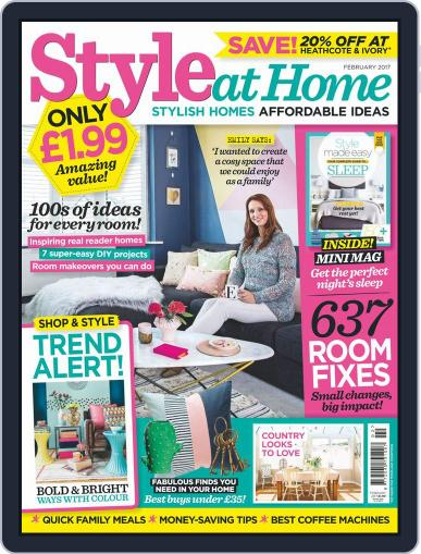 Style At Home United Kingdom (Digital) February 1st, 2017 Issue Cover