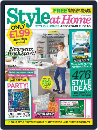 Style At Home United Kingdom (Digital) January 1st, 2017 Issue Cover