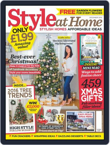 Style At Home United Kingdom (Digital) December 1st, 2016 Issue Cover