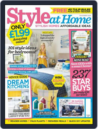Style At Home United Kingdom (Digital) November 1st, 2016 Issue Cover