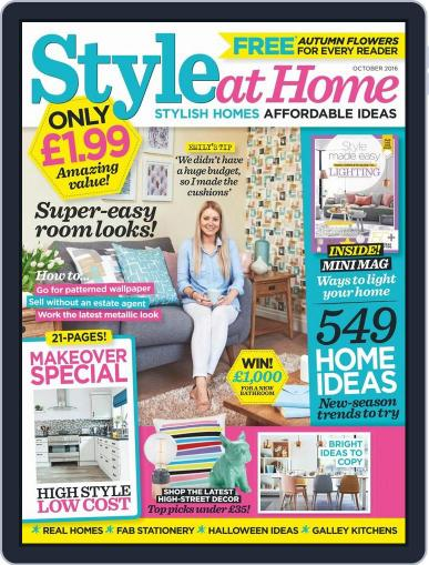 Style At Home United Kingdom (Digital) October 1st, 2016 Issue Cover