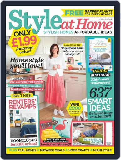 Style At Home United Kingdom (Digital) August 3rd, 2016 Issue Cover