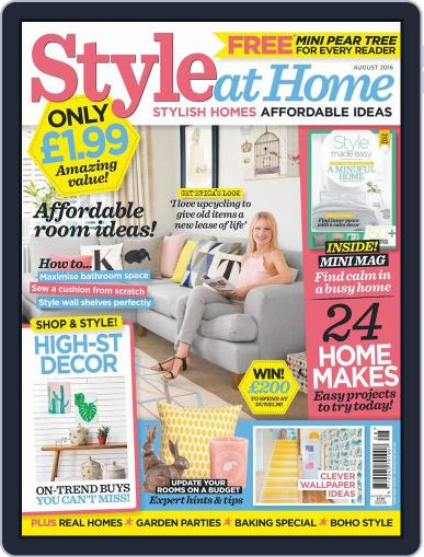 Style At Home United Kingdom (Digital) July 6th, 2016 Issue Cover