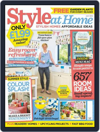 Style At Home United Kingdom (Digital) June 1st, 2016 Issue Cover
