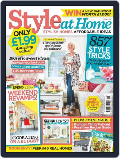 Style At Home United Kingdom (Digital) March 30th, 2016 Issue Cover