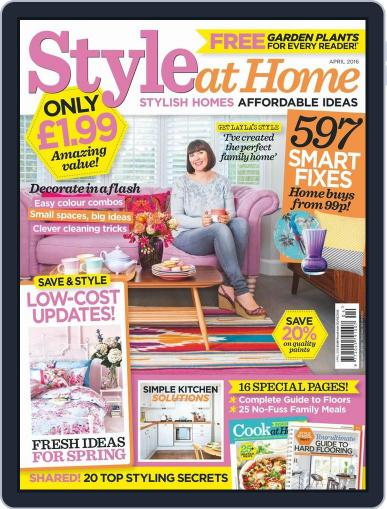 Style At Home United Kingdom (Digital) March 2nd, 2016 Issue Cover