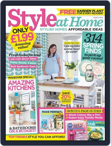Style At Home United Kingdom (Digital) February 3rd, 2016 Issue Cover