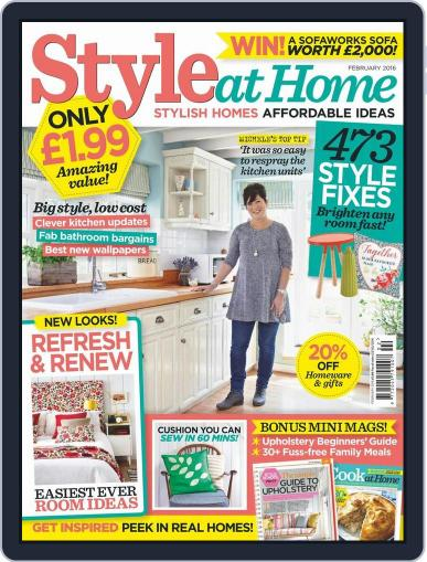 Style At Home United Kingdom (Digital) January 13th, 2016 Issue Cover