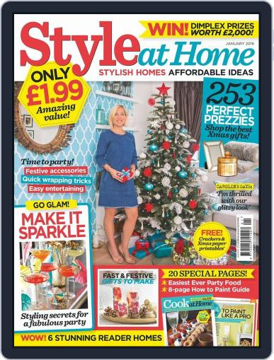Style At Home United Kingdom (Digital) December 2nd, 2015 Issue Cover