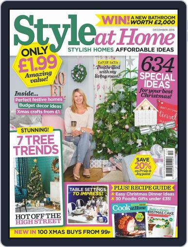 Style At Home United Kingdom (Digital) October 28th, 2015 Issue Cover