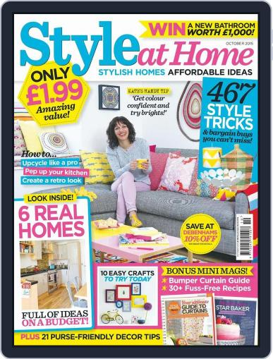 Style At Home United Kingdom (Digital) October 1st, 2015 Issue Cover