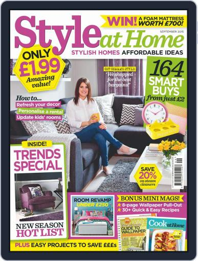 Style At Home United Kingdom (Digital) September 1st, 2015 Issue Cover