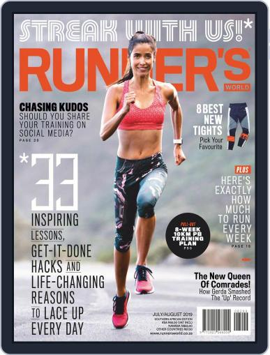 Runner's World South Africa (Digital) July 1st, 2019 Issue Cover