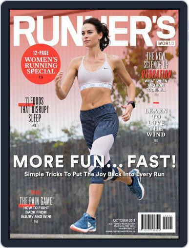 Runner's World South Africa (Digital) October 1st, 2018 Issue Cover