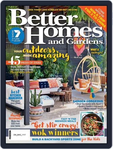 Better Homes and Gardens Australia (Digital) November 1st, 2017 Issue Cover