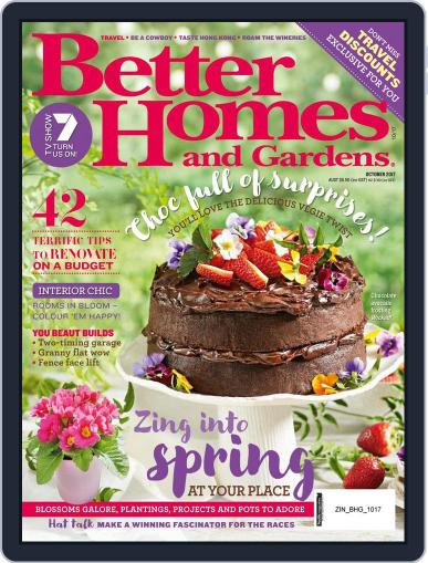 Better Homes and Gardens Australia (Digital) October 1st, 2017 Issue Cover