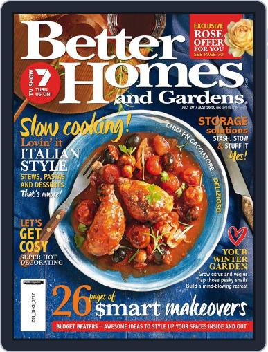 Better Homes and Gardens Australia (Digital) July 1st, 2017 Issue Cover