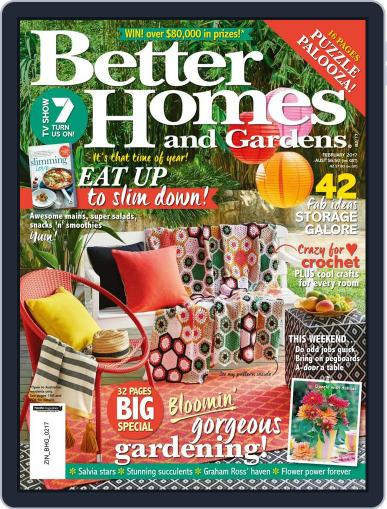Better Homes and Gardens Australia (Digital) February 1st, 2017 Issue Cover