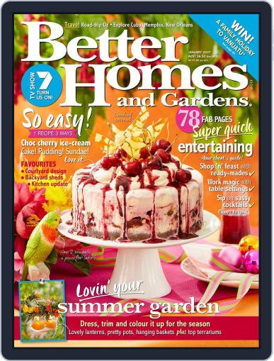 Better Homes and Gardens Australia (Digital) January 1st, 2017 Issue Cover