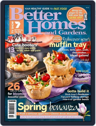Better Homes and Gardens Australia (Digital) October 1st, 2012 Issue Cover