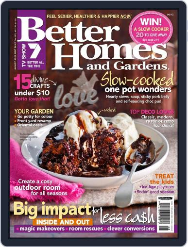 Better Homes and Gardens Australia (Digital) August 1st, 2012 Issue Cover