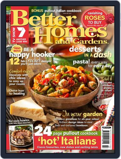 Better Homes and Gardens Australia (Digital) July 1st, 2012 Issue Cover