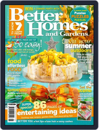 Better Homes and Gardens Australia (Digital) January 1st, 2012 Issue Cover