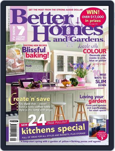 Better Homes and Gardens Australia (Digital) September 1st, 2011 Issue Cover