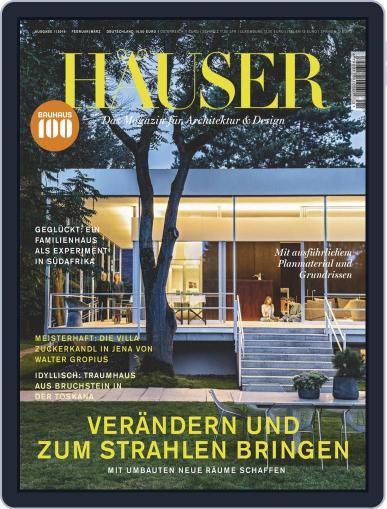 Häuser (Digital) February 1st, 2019 Issue Cover