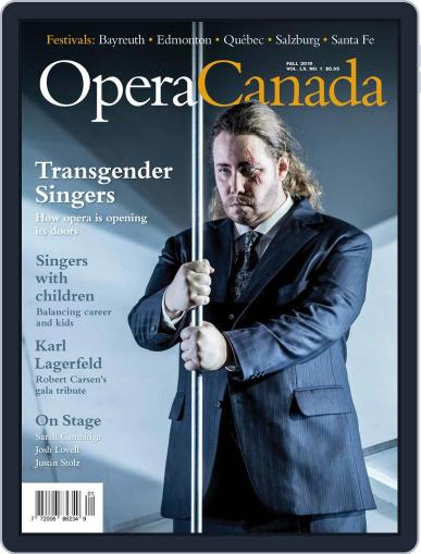 Opera Canada (Digital) September 1st, 2019 Issue Cover