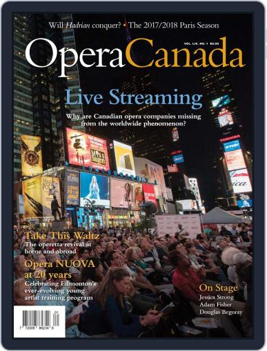 Opera Canada (Digital) September 5th, 2018 Issue Cover