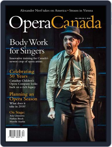 Opera Canada (Digital) April 23rd, 2018 Issue Cover