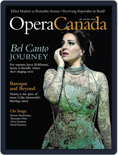 Opera Canada August 21st, 2017 Digital Back Issue Cover