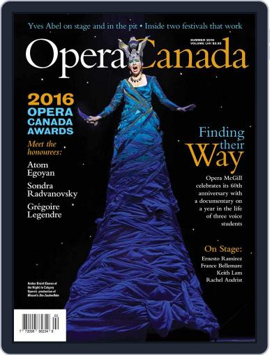 Opera Canada October 27th, 2016 Digital Back Issue Cover
