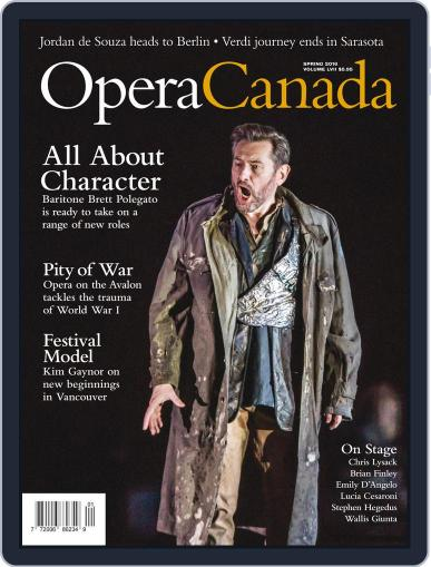 Opera Canada June 1st, 2016 Digital Back Issue Cover