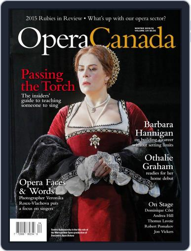 Opera Canada March 1st, 2016 Digital Back Issue Cover