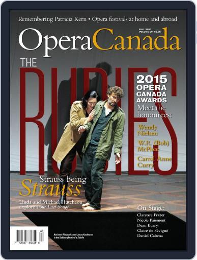 Opera Canada November 1st, 2015 Digital Back Issue Cover