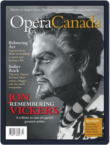 Opera Canada August 1st, 2015 Digital Back Issue Cover