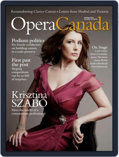 Opera Canada May 1st, 2015 Digital Back Issue Cover