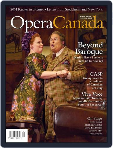 Opera Canada January 12th, 2015 Digital Back Issue Cover